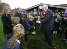Royal visitor helps Forge Integrated Primary School plant the seeds for a bright environmental future. -- news item graphic