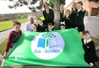 Green Flag Glory for Belfast School. -- news item graphic