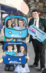 Young Travel Challengers say '#GetonboardNI' for Bus +Train Week. -- news item graphic