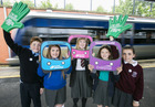 Young Travel Challengers say '#GetonboardNI' during Bus +Train Week -- news item graphic