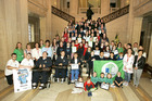 Belfast pupils display eco-excellence at Stormont celebration. -- news item graphic